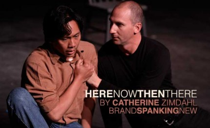 Kenneth Moraleda and Matt Young in Catherine Zimdahl's HereNowThenThere, part of Brand Spanking New 2010 at the New Theatre