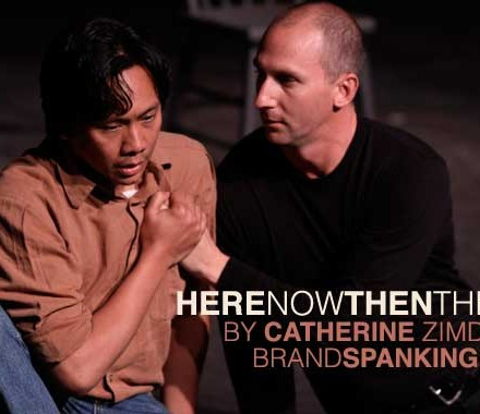 Kenneth Moraleda and Matt Young in Catherine Zimdahl&#039;s HereNowThenThere, part of Brand Spanking New 2010 at the New Theatre