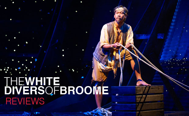 "Kenneth Moraleda as Bin Mahomet in Hilary Bell's ""The White Divers of Broome"" directed by Kate Cherry. Presented by Black Swan State Theatre Company and Perth International Arts Festival"